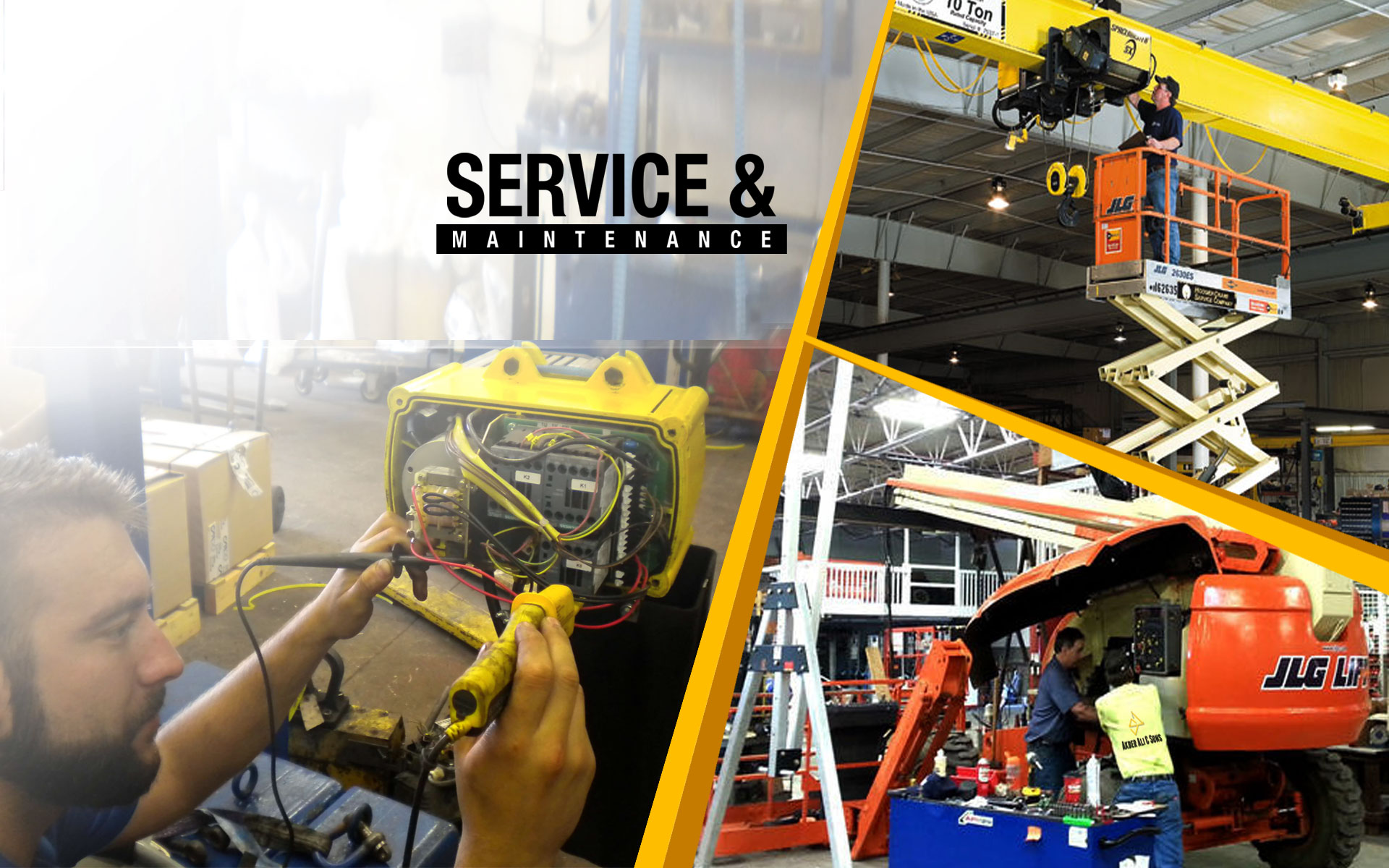 Service and repair of heavy equipment