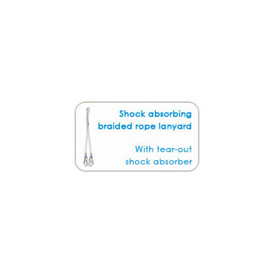 Shock absorbing braided rope Lanyard – With tear-out shock absorber