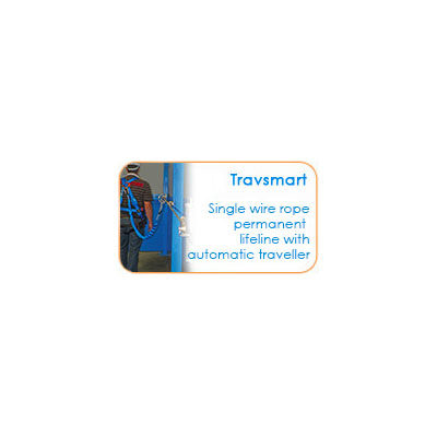Single wire rope permanent lifeline with automatic traveller - Travsmart